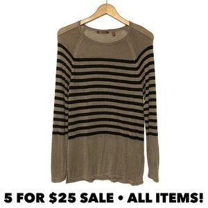 Mixed Weave Striped Sweater